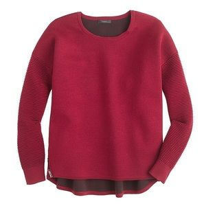 J.Crew Collection bonded merino wool zip sweater